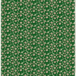 Mini Unikko fabric,  beige - green - peach