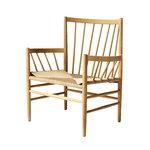 J82 lounge chair,  oiled oak