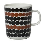 Oiva - Siirtolapuutarha Räsymatto mug 2,5 dl, brown-black