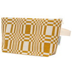 Doris cosmetics bag, L, ochre