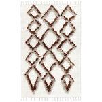 Tie rug 140 x 200 cm, brown