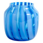 Juice vase, wide, light blue