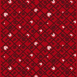 Spalj� fabric, red-plum-white