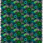 Pieni Siirtolapuutarha fabric, green
