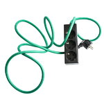 N.U.D. Collection Nud Extend 3-way extension cord, green