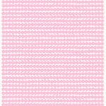Räsymatto kangas, valkoinen-vaaleanpunainen