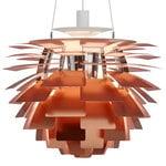 Lampada PH Artichoke, 600 mm, rame rosa