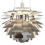 Lampada PH Artichoke, 600 mm, acciaio inox