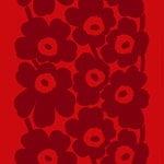 Tessuto in cotone pesante Unikko, rosso - rosso scuro