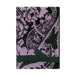 Fandango hand towel, dark green - pink