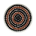 Oiva - Siirtolapuutarha Räsymatto lautanen 20 cm, ruskea-musta