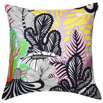 Kaalimets� cushion cover, white - pink - yellow