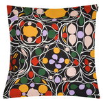 Marimekko Talvipalatsi cushion cover, black-yellow-green-purple