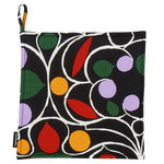 Talvipalatsi pot holder, black-yellow-green-purple