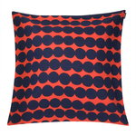 Räsymatto cushion cover 50 x 50 cm, orange - dark blue