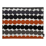 Räsymatto coated placemat, white - grey - chestnut
