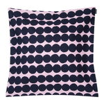 Räsymatto cushion cover 50 x 50 cm, pink - dark blue