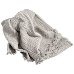 Crinkle throw, silver