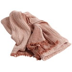Crinkle throw, peach
