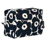 Vilja Mini Unikko cosmetic bag, cotton - dark blue