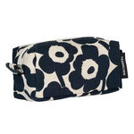 Tiise Mini Unikko cosmetic bag, cotton - dark blue