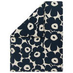 Unikko duvet cover, 240 x 220 cm, cotton - dark blue