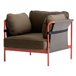Can 1-seater, red-grey frame, Army Canvas