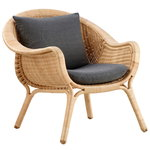Madame lounge chair, dark grey cushion