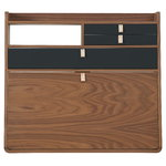 Gaston wall desk 80 cm, walnut - slate grey
