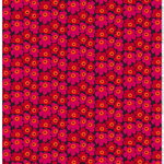Mini Unikko fabric, red-orange-plum