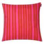 Raide tyynynpäällinen 40 x 40 cm, punainen - vaaleanpunainen