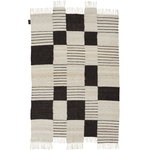 Palsta rug, off white - black