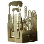 The Factory candleholder, Texas, brass