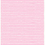 Räsymatto coated fabric, white -  pink