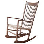J16 rocking chair, lacquered walnut