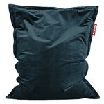 Original Slim Velvet bean bag, petrol