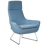 Happy easy chair high back, blue