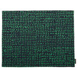 Orkanen coated cotton placemat, dark blue - green