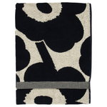 Marimekko Unikko bath towel, cotton - dark blue