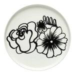 Oiva - Eläköön elämä plate 20 cm, white - black