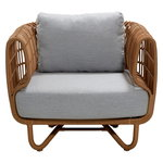 Nest lounge chair, natural - light grey
