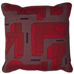 In the grass cushion, 50 x 50 cm, red
