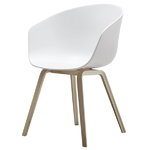 About A Chair AAC22, white - matt lacquered oak