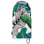 Kaalimets� oven mitten, white-green-purple