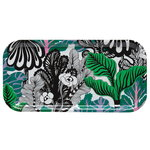 Marimekko Kaalimets� tray, white-green-purple