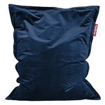 Original Slim Velvet bean bag, dark blue