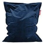 Poltrona sacco Original Slim Velvet, blu scuro