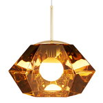 Tom Dixon Cut Short pendant, gold