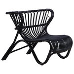 Fox lounge chair, black