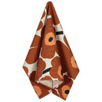 Pieni Unikko kitchen towel, beige - chestnut